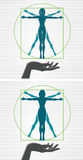 Vitruvian woman Stock Photography