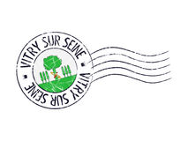 Vitry sur Seine postal rubber stamp Royalty Free Stock Photo