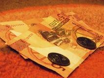Vitryska pengar Arkivfoton