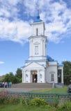 Vitryssland Baranovichi: ortodox Pokrovsky domkyrka Arkivfoto