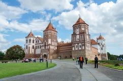 Vitryssland Grodno region, Mir Castle Complex Royaltyfri Fotografi