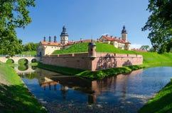 Vitryssland Minsk region, Nesvizhsky slott arkivfoto