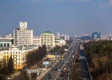Vitryssland Minsk, självständighetaveny arkivbild