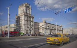 Vitryssland Minsk: Stationsfyrkant arkivbild