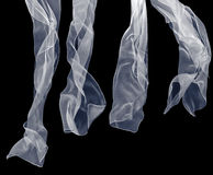 Vitscarf på en svart bakgrund Royaltyfri Bild
