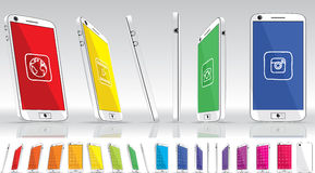 VitSmart telefon - multipelsikter royaltyfri illustrationer