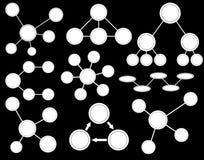 Vitt ämnediagram Arkivbild