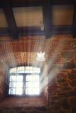 Vitt ängelflyg i solljuset Arkivbild