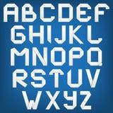 Vitt alfabet med skugga, origamistil. Arkivbild