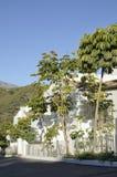 Vitt Andalusian hus Arkivfoto