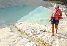 Vitt berg Pamukkale royaltyfri foto
