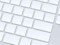 Vitt blankt datortangentbord isolerade den täta hörlurarbilden för black slapp övre white för mikrofonblock Vektorillustrati Arkivfoton
