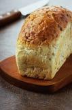 Vitt bröd med kli Arkivbild