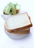 Vitt bröd och grönt bröd Royaltyfri Fotografi