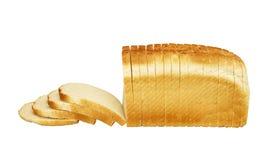 Vitt bröd på vit bakgrund arkivfoton