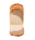 Vitt brunt bröd Royaltyfri Bild