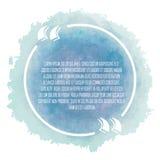 Vitt citationstecken för cirkel på blå bakgrund Royaltyfri Foto