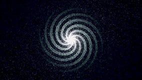 Vitt damm för abstrakt utrymme med stjärnor på svart bakgrund djur Skinande galax med nebulas som roterar och vektor illustrationer