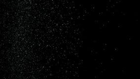 Vitt dammskräp som exploading på svart bakgrund, bristning för rörelsepulversprej i mörk textur Materiell arkivbilder