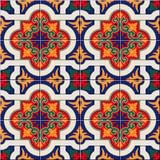 Vitt färgrikt marockanskt för ursnygg sömlös modell, portugistegelplattor, Azulejo, prydnader Kan användas för tapet vektor illustrationer
