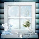 vitt fönster Royaltyfri Foto