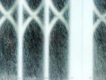 Vitt fönster med den frostade glass detaljen Royaltyfri Foto