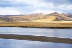 Vitt flodlandskap Fotografering för Bildbyråer