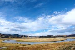 Vitt flodlandskap royaltyfria foton