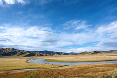 Vitt flodlandskap Arkivbilder