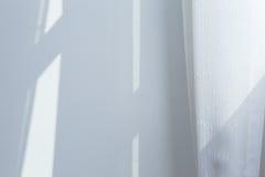 Vitt gardinfönster Fotografering för Bildbyråer