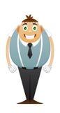 Vitt Hollywood för tjocka kontorsmän leende stock illustrationer
