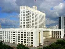 Vitt hus moskow Royaltyfria Bilder