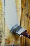 vitt isolerat målande hjälpmedel för bakgrund borste Arkivfoto