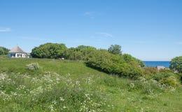 Vitt Kap Arkona, Ruegen ö, Tyskland Fotografering för Bildbyråer