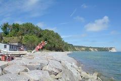 Vitt Kap Arkona, Ruegen ö, Tyskland Royaltyfria Bilder