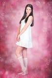 vitt kvinnabarn för klänning Arkivbild