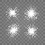 Vitt ljus med damm stock illustrationer