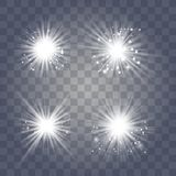 Vitt ljus med damm royaltyfri illustrationer