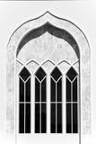 Vitt marmorfönster Arkivfoto