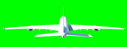 Vitt modernt flygplan Arkivbild