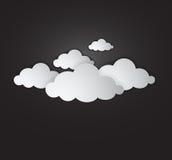 Vitt moln - illustration stock illustrationer