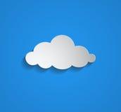 Vitt moln - illustration vektor illustrationer