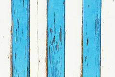 Vitt och blått grungeträ Royaltyfri Bild