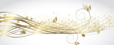 Vitt och guld- baner stock illustrationer