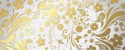 Vitt och guld- baner royaltyfri illustrationer
