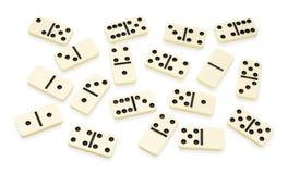 vitt ordnat kaotiskt domino Royaltyfri Fotografi