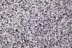 Vitt oväsen för TV på lcd-skärmen Royaltyfri Fotografi