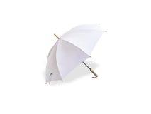 Vitt paraply Royaltyfri Fotografi