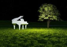 Vitt piano Arkivbild