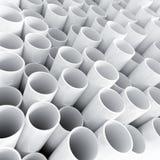 Vitt plast- rör Arkivfoton